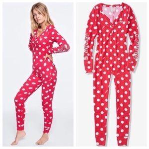 Vs Pink Cozy Holiday Onesie Pajama XS